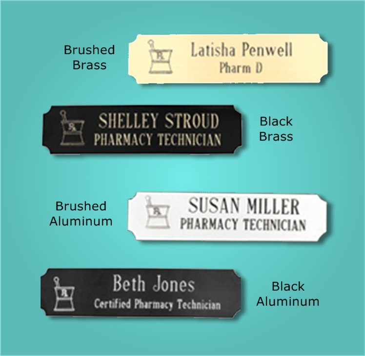 Pharmacy Name Tags and Lapel Pins