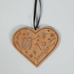 D215. Dental Etched Ornament Personalized