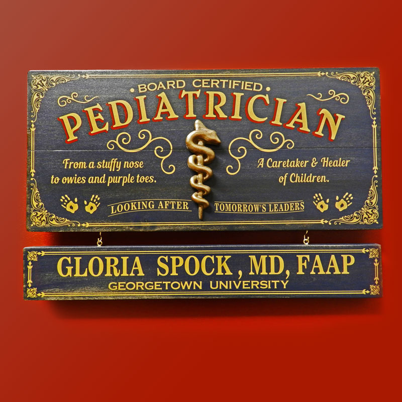 Pediatrician Sign Personalized