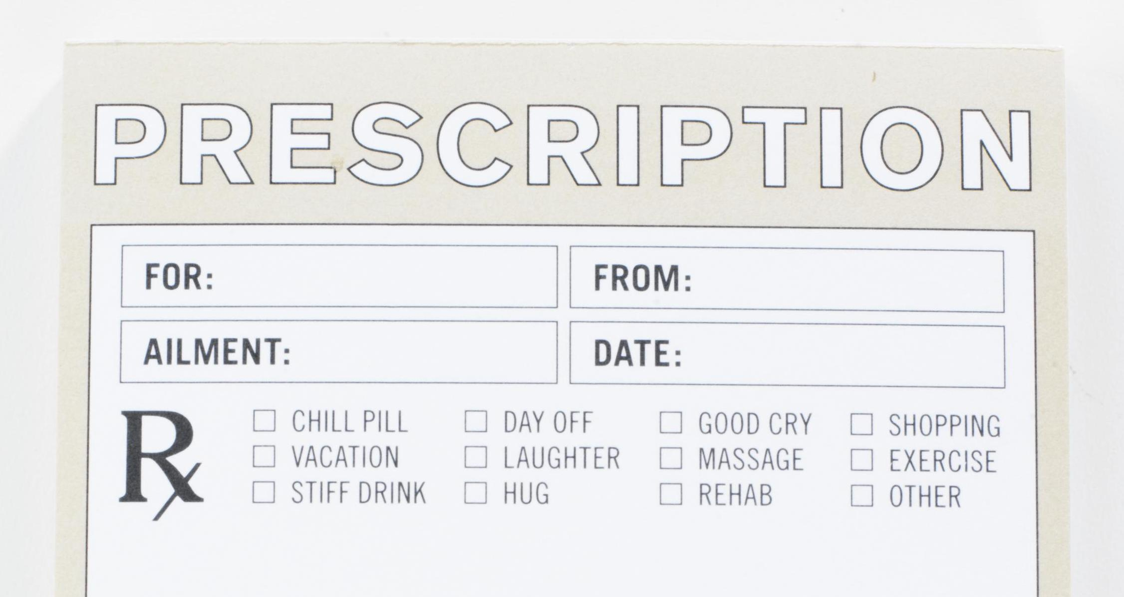Funny Prescription Pad