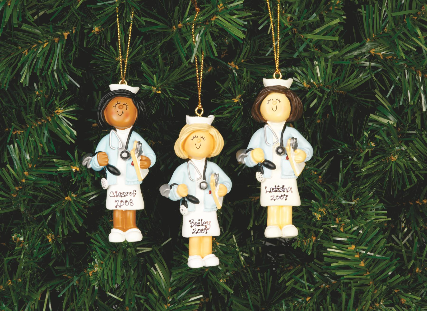 Blonde Female Nurse Ornament -